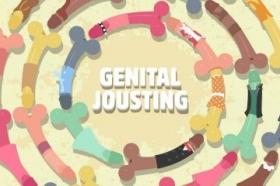 Speel met piemels in Genital Jousting
